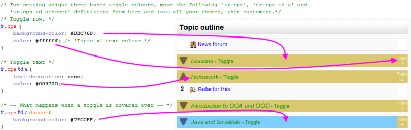 moodle how to change theme