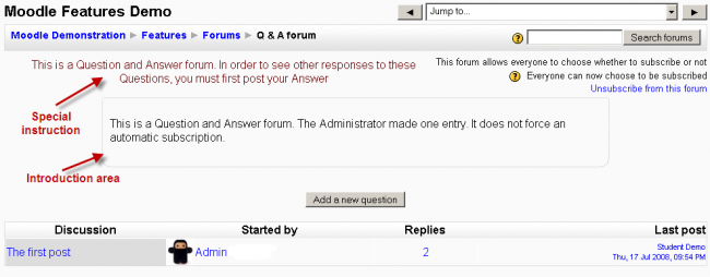 Using Forum - MoodleDocs
