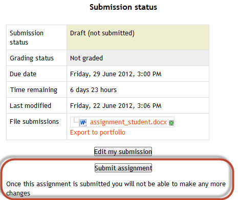 online assignment submission project report Online assignment submission: minutes longer than marking traditional assignments a report page which allowed students to see was performed as a project.