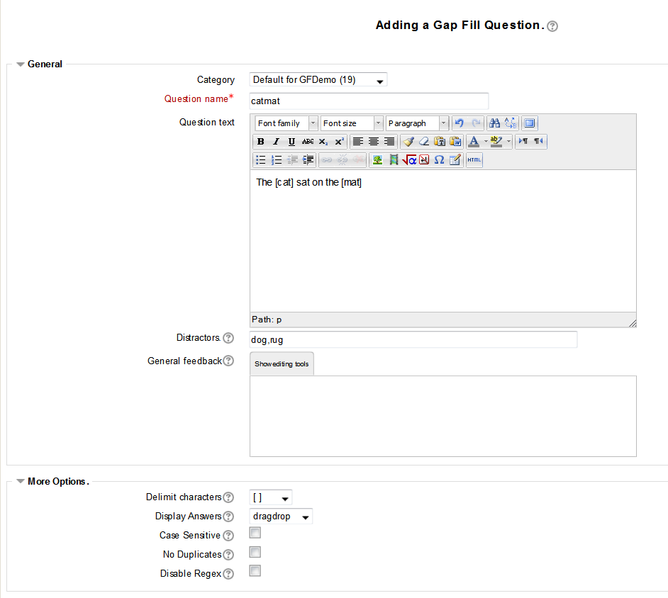gapfill question type moodledocs by default the student will see the questions in dragdrop mode where they can use the mouse to drag the answers from a displayed list into the matching