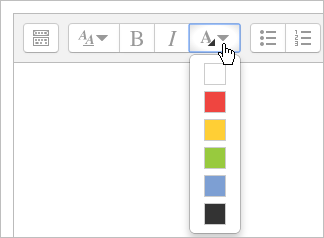 Added font color in toolbar