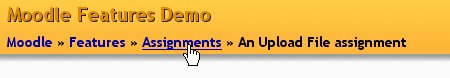 We at Assignment, part of the Features course, in a site called Moodle