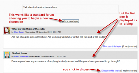 Using Forum - MoodleDocs