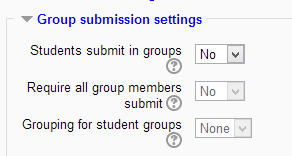 Group submission settings