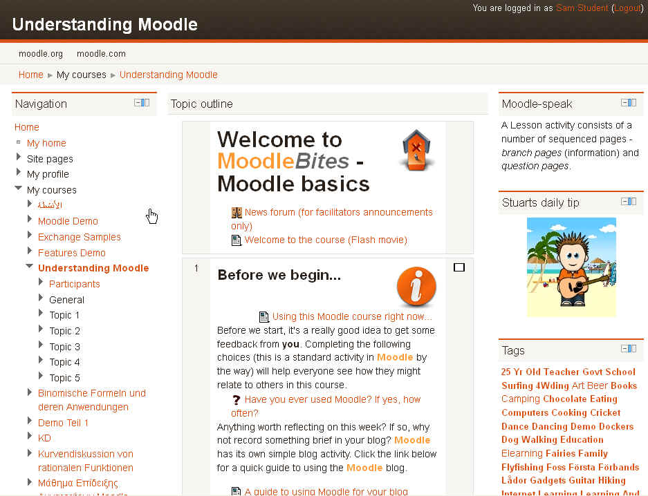 how to use moodle