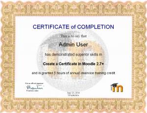 Certificate customizing - MoodleDocs