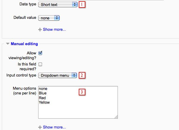 ELIS Custom fields examples - MoodleDocs