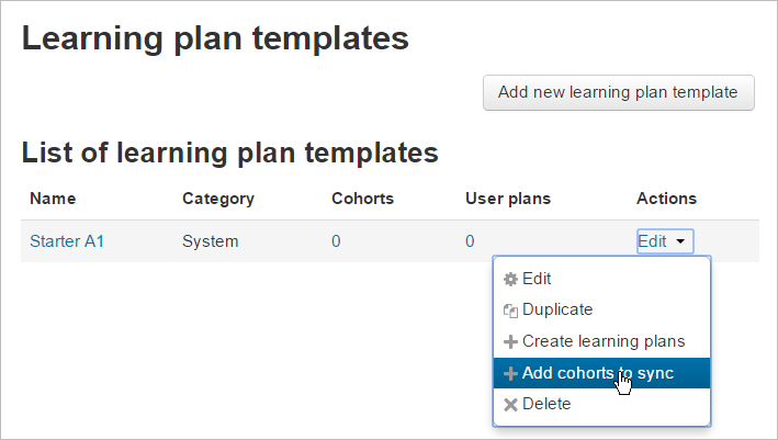Learning plans MoodleDocs – Plan Template