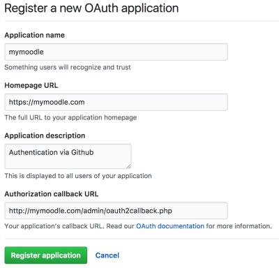 OAuth 2 Github service - MoodleDocs