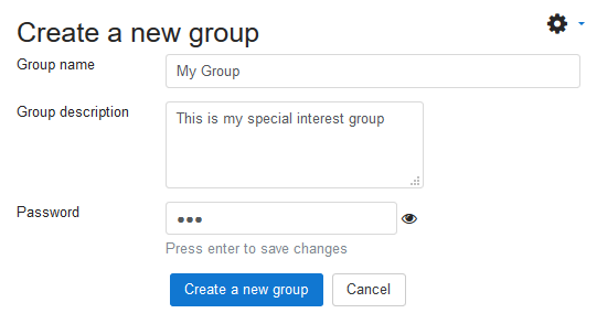 Group creation