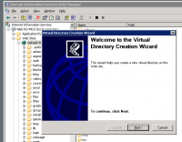 IIS Virtual Directory Creation Wizard