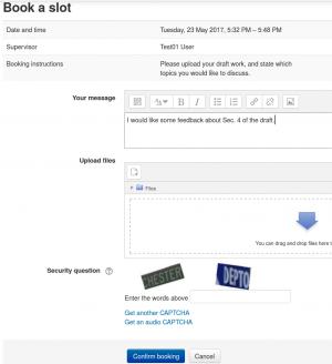 scheduler form