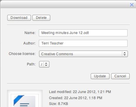 Дыалог гедагування чи оновлення файлу