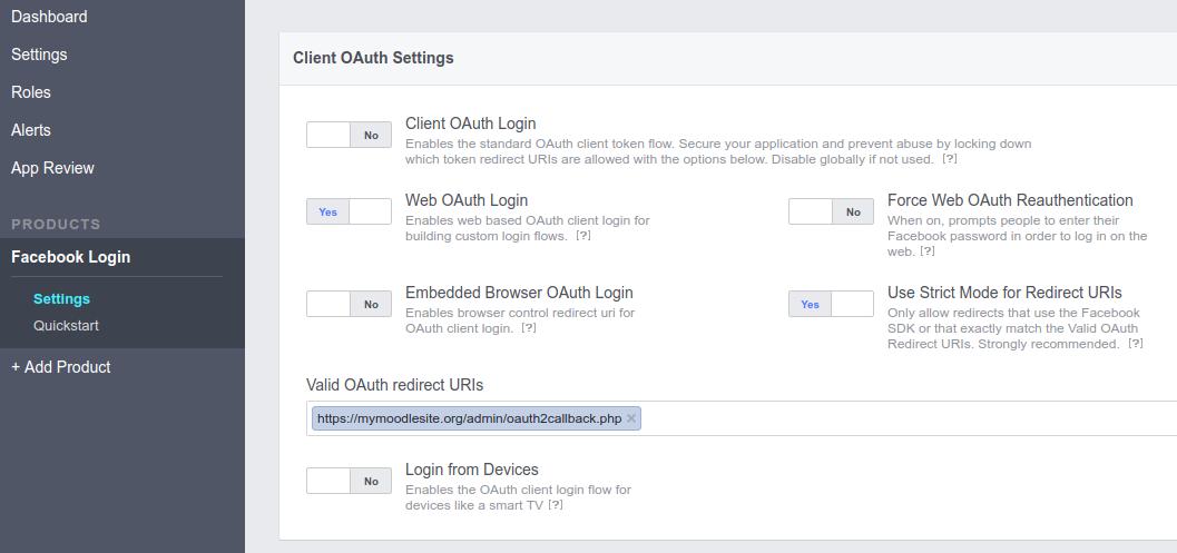 OAuth 2 Facebook service - MoodleDocs