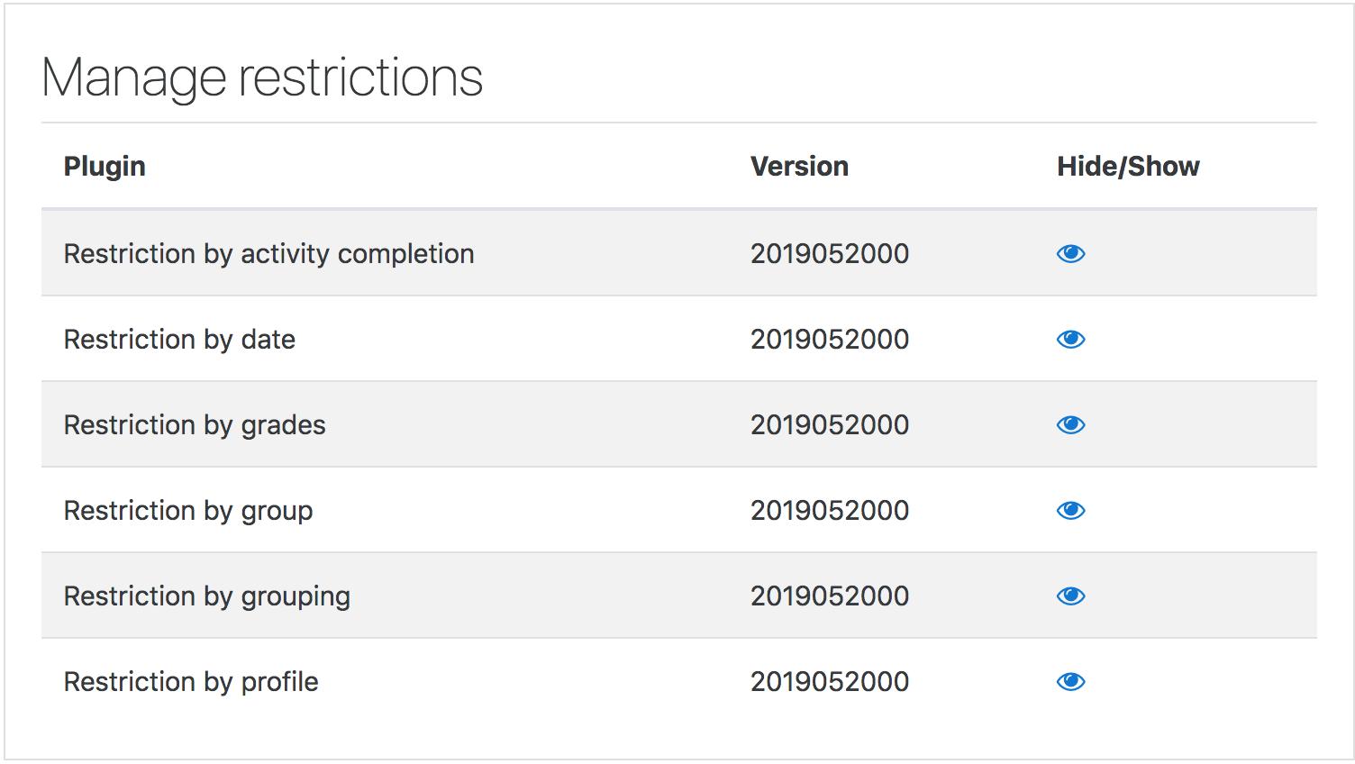 Restrict access settings - MoodleDocs