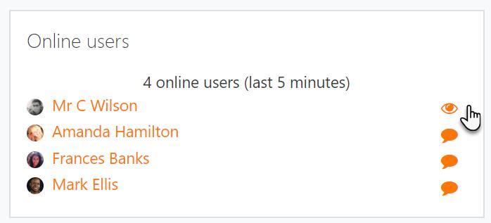 Online users block - MoodleDocs