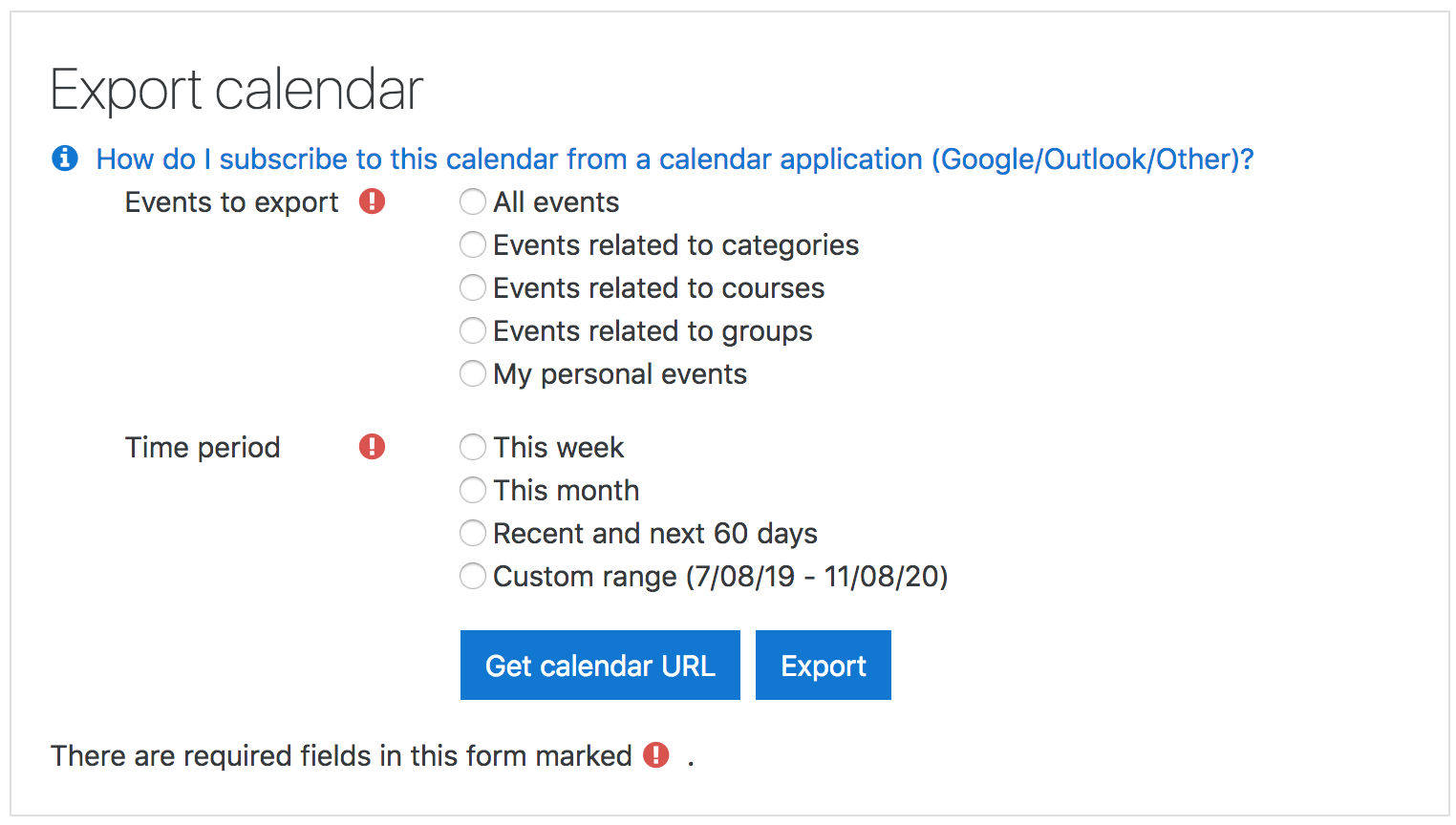 Using Calendar - MoodleDocs
