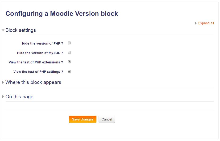 Moodle Version Configuration