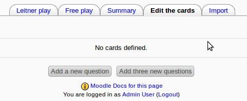 Flashcard module - MoodleDocs
