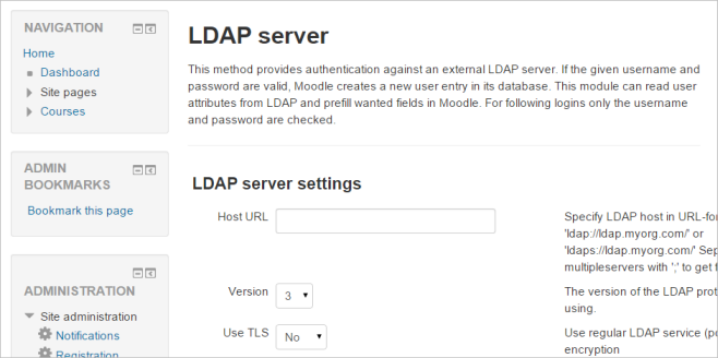 LDAP authentication - MoodleDocs