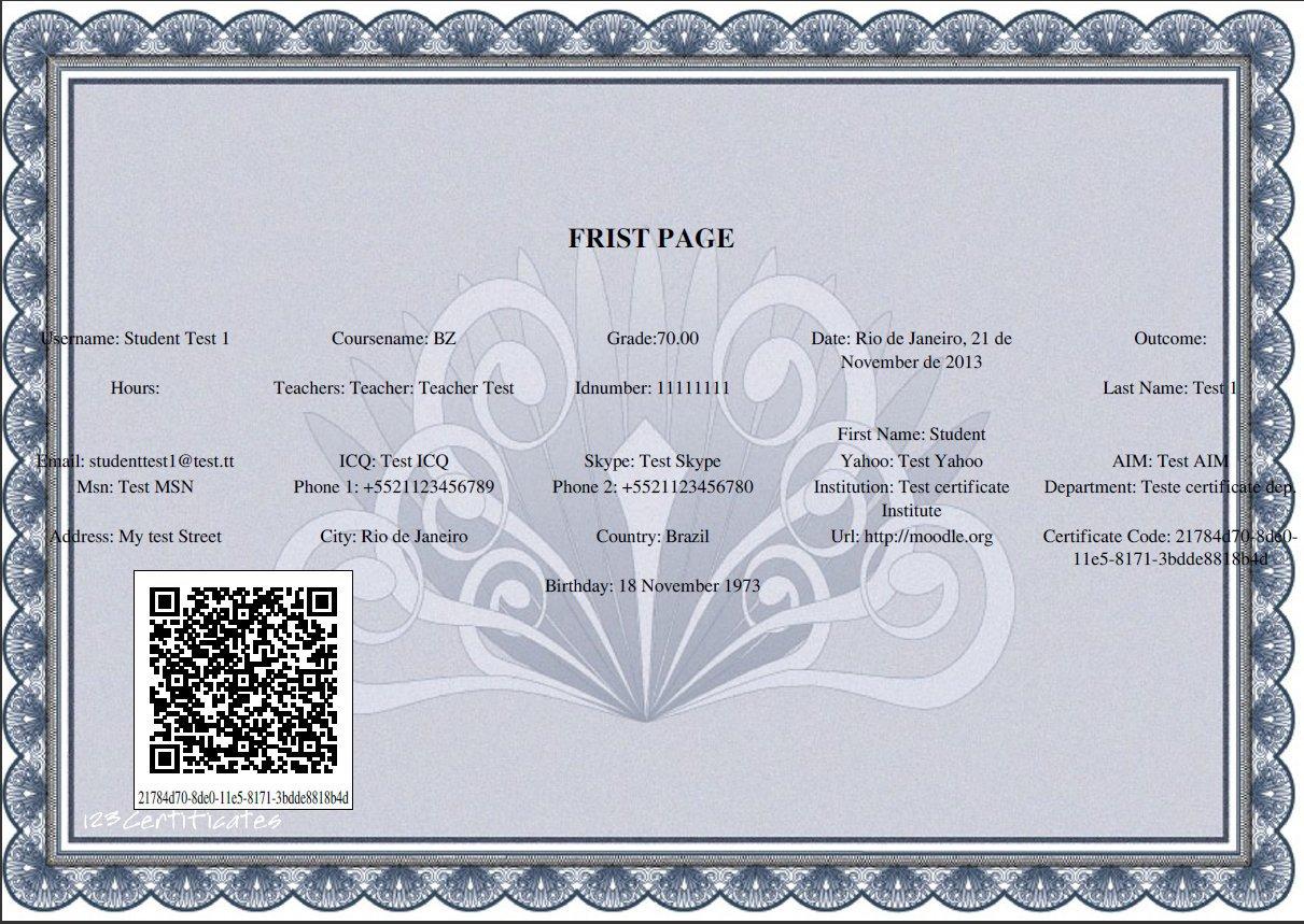 Simple certificate module - MoodleDocs