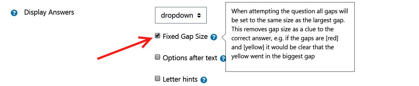Gapfill question type - MoodleDocs