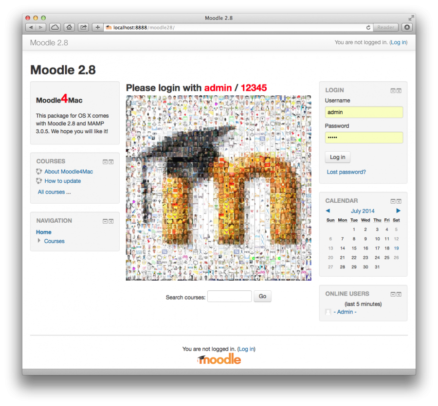 Installation Package for OS X - MoodleDocs
