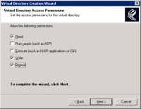 Specifying directory permissions