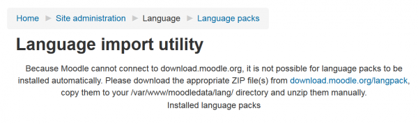 Language packs - MoodleDocs