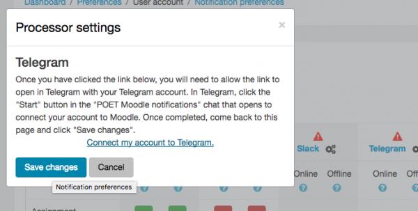 Telegram message processor - MoodleDocs