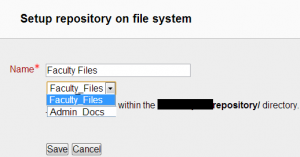 File system repository - MoodleDocs