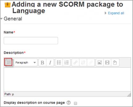 SCORM settings - MoodleDocs