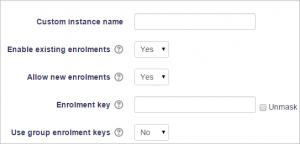 Enrolment key - MoodleDocs