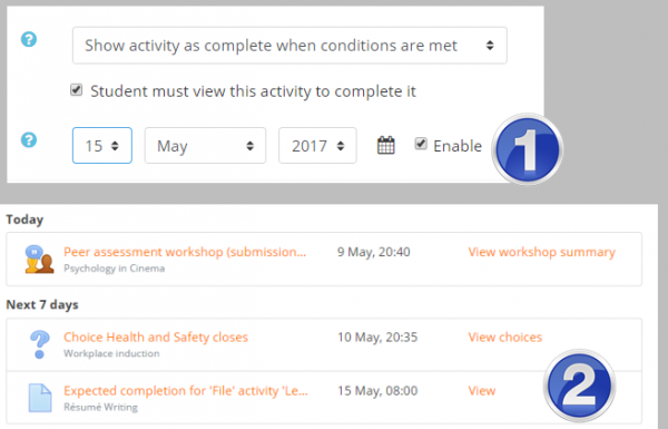 Activity completion settings - MoodleDocs