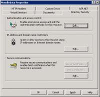 Directory Security authentication and access control