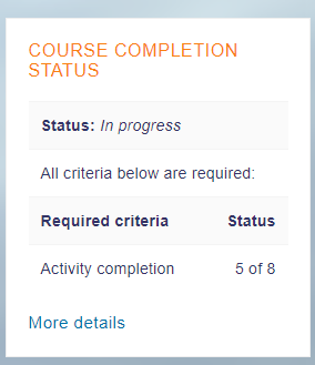 Course Completion Status Block