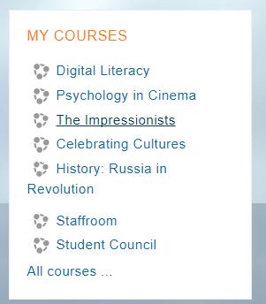 Courses Block