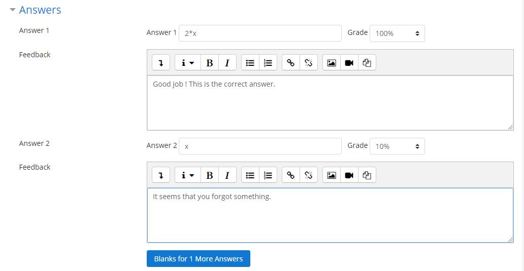 Tipo de pregunta álgebra - MoodleDocs