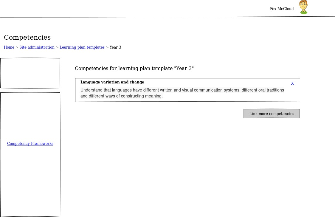 competency based education moodledocs list competencies in a template