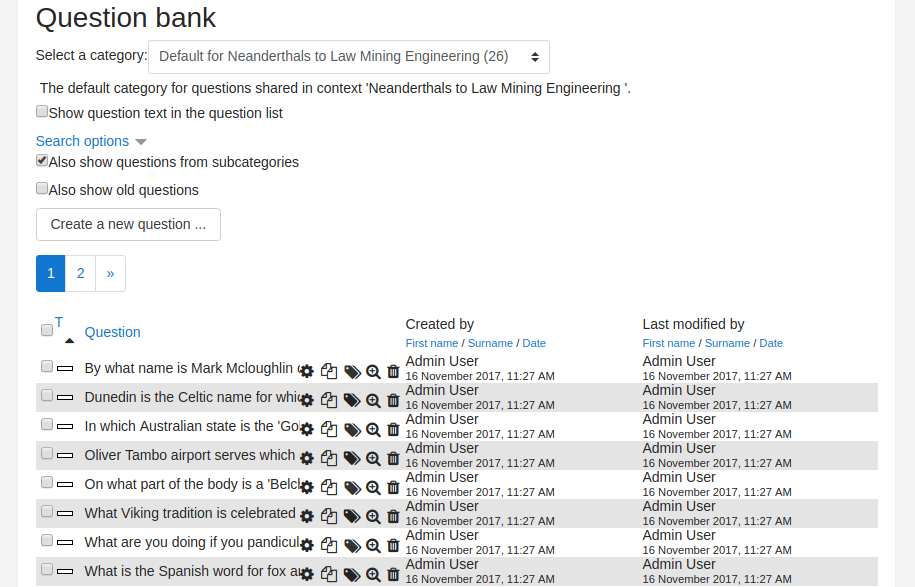 Improved Question Bank Tags - MoodleDocs