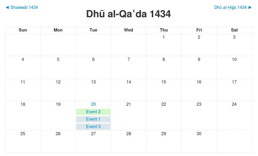 calendar types moodledocs