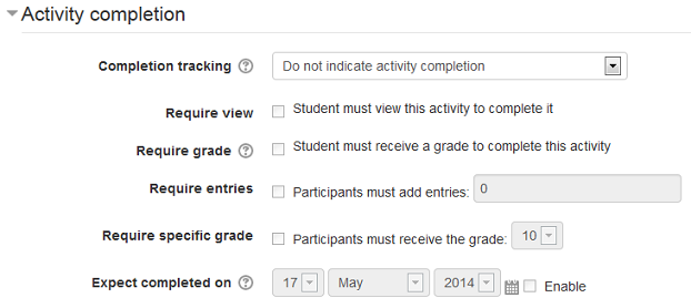 Dataform activity completion settings