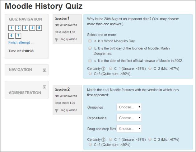 Quiz settings B... Quiz Survey Questions