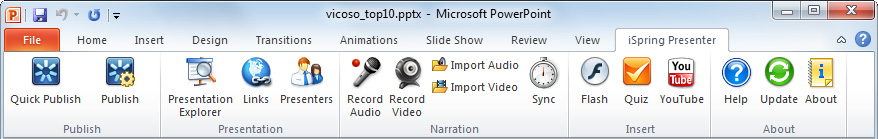 Refresh flash movie in powerpoint