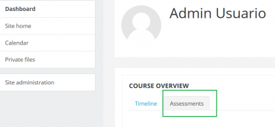 We have replaced 'Courses' with 'Assessments'