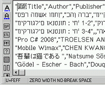 La imagen muestra un archivo csv exportado desde openoffice calc en